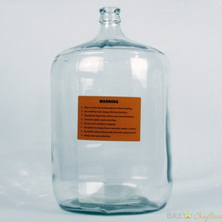 Glass Carboy, Small Mouth, 6 1 / 2 Gallon